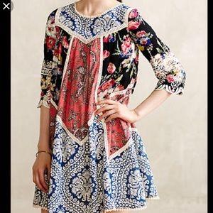 Anthropologie Vanessa Virginia Inez Swing Dress